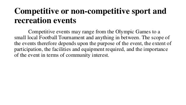 competitive sports essay Argumentative essay: the importance of sports  participating in any competitive sport also improves our ability to handle pressure and still perform well, as well as teaching us how to win and lose graciously all in all, the fact that playing sport is good for us is completely undeniable, because it helps our minds and bodies, and.
