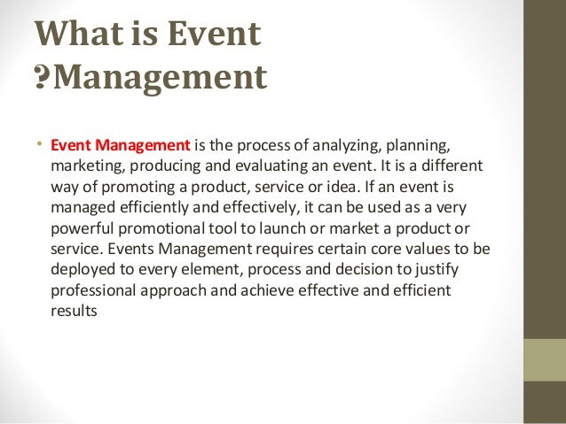 swot analysis for event planning business