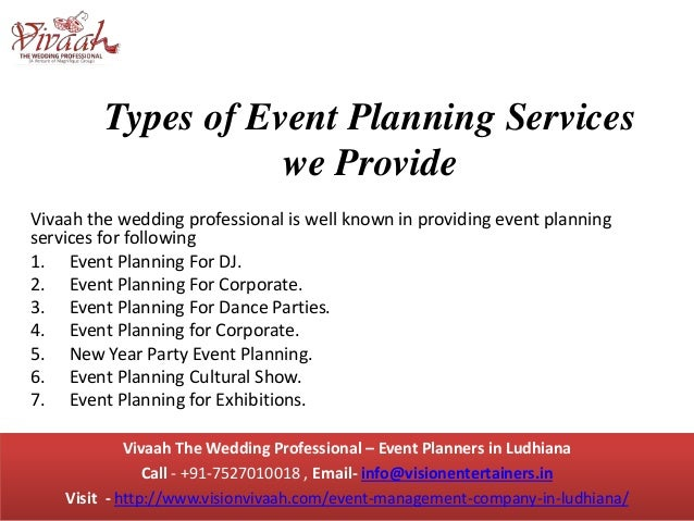Event Management Company in Ludhiana Vivaah The Wedding Professional