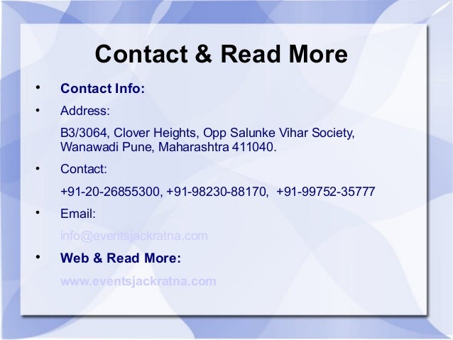 Contact & Read ...