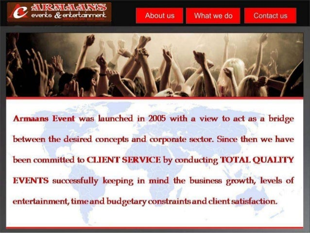 how to make event management company profile
