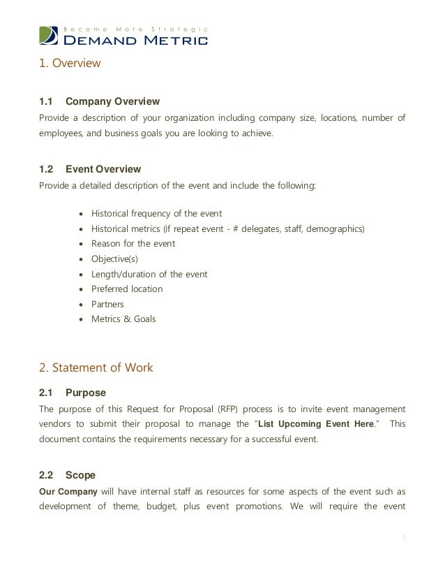 Event Management Rfp Template