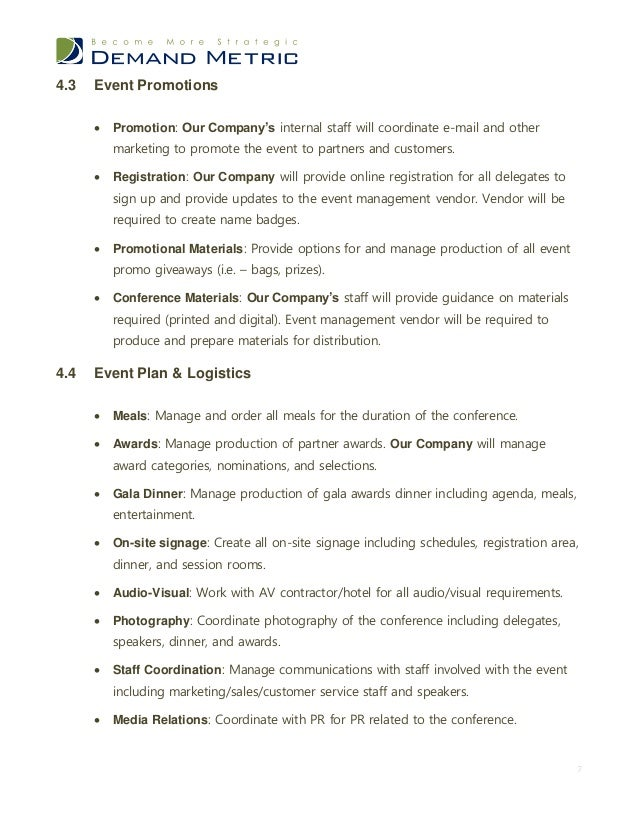 Event management rfp template 6 7 43 event promotions stopboris Gallery