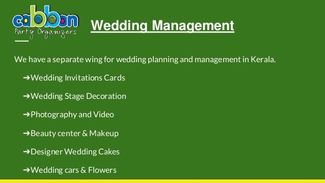 Event Management Services From Cabbon