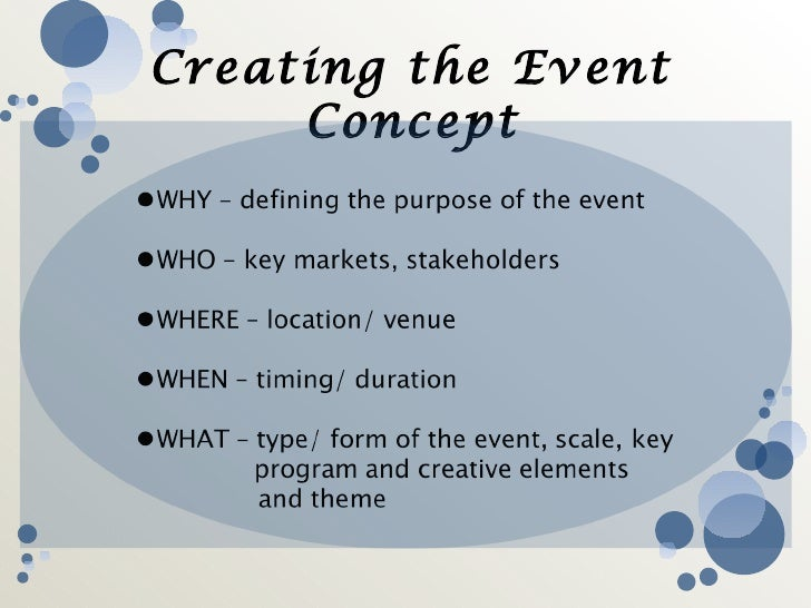 Event management creating the event concept 27 saigontimesfo