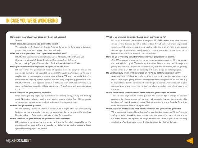 Experiential Event Capabilities 2014 Look Book