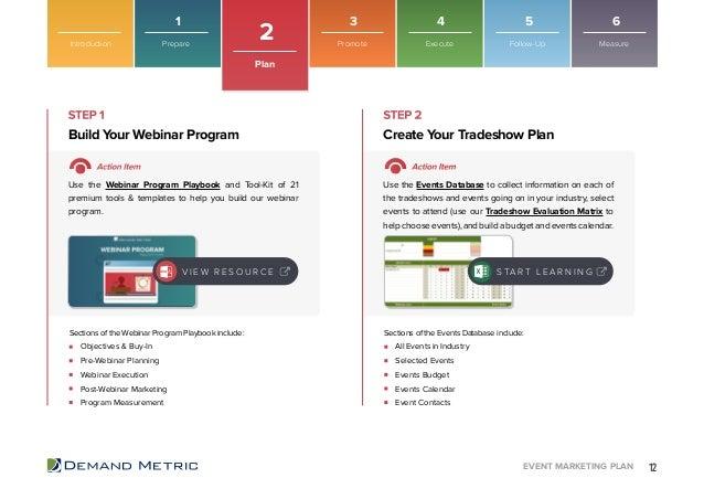 Event Marketing Plan Playbook