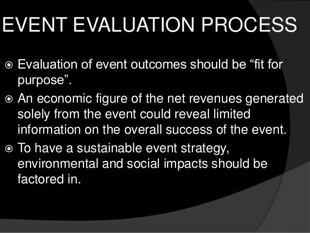 Event management research and evaluation – Event Evaluation