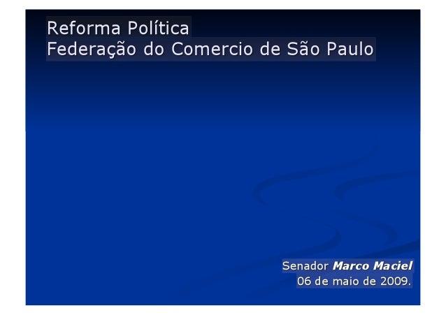Convite: -Governador Cláudio Lembo -Federação do Comercio de São Paulo