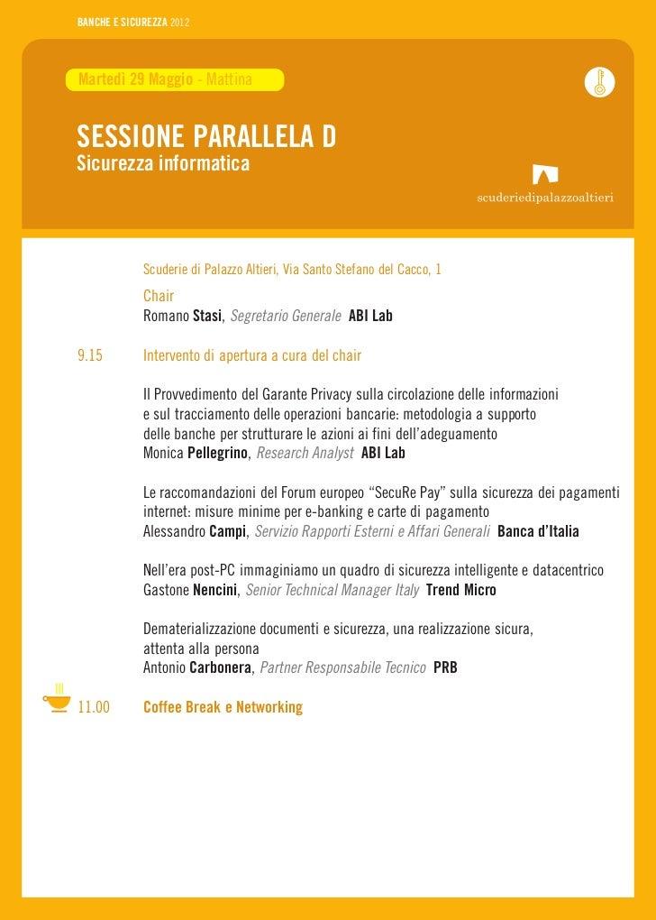 Banche E Sicurezza 2012 Programma