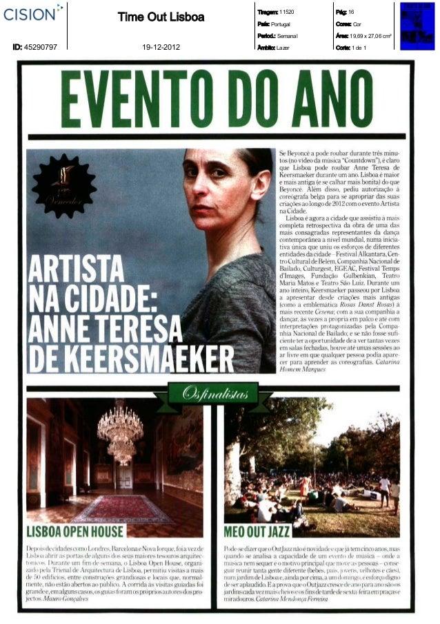 Tiragem: 11520     Pág: 16               Time Out Lisboa   País: Portugal     Cores: Cor                                 P...