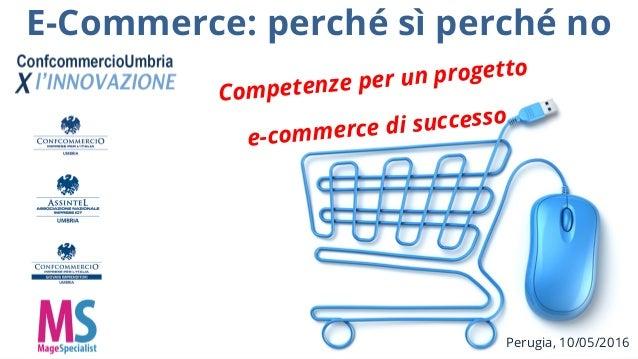 E-Commerce: perché sì perché no Perugia, 10/05/2016 Competenze per un progetto e-commerce di successo