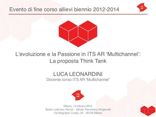 Evento di fine corso allievi biennio 2012-2014  L'evoluzione e la Passione in ITS AR 'Multichannel':  La proposta Think Ta...