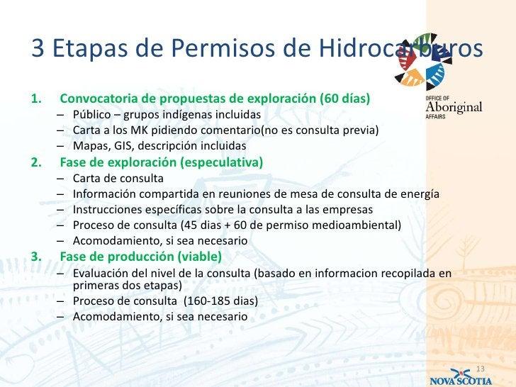 3 Etapas de Permisos de Hidrocarburos1.   Convocatoria de propuestas de exploración (60 días)     – Público – grupos indíg...