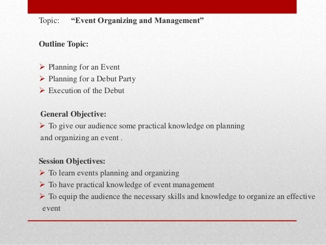 Event organizing and management for How to plan a party
