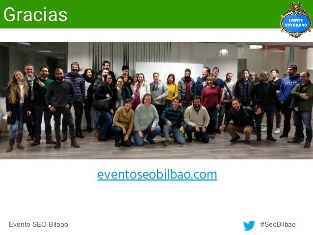 Evento SEO Bilbao - Píldoras de SEO
