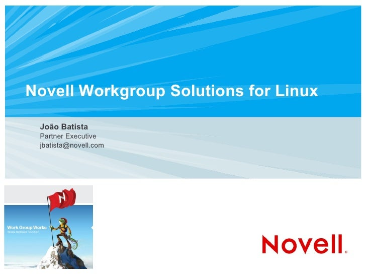Novell Workgroup Solutions for Linux João Batista Partner Executive [email_address]