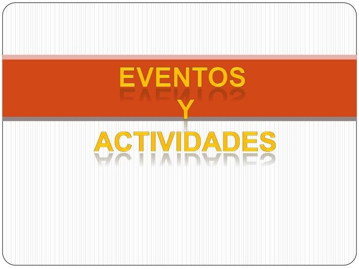 Eventos y actividades internacional blog blogspot blogger