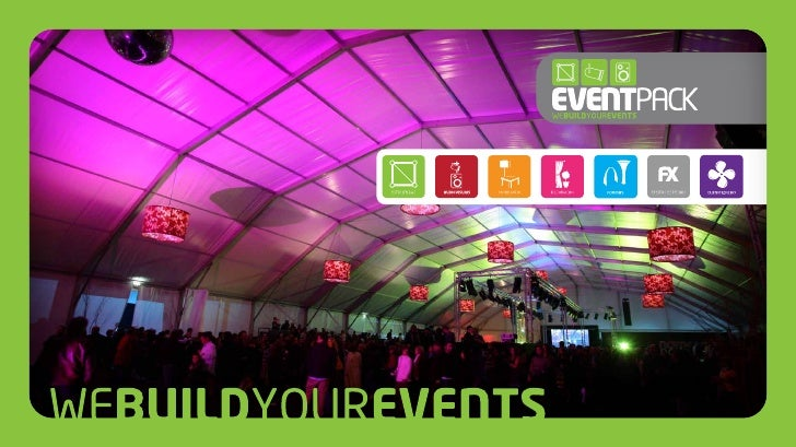 Apresentação EventPackA EventPack é atualmente uma empresa de referência no aluguer de equipa-mentos e estruturas para eve...