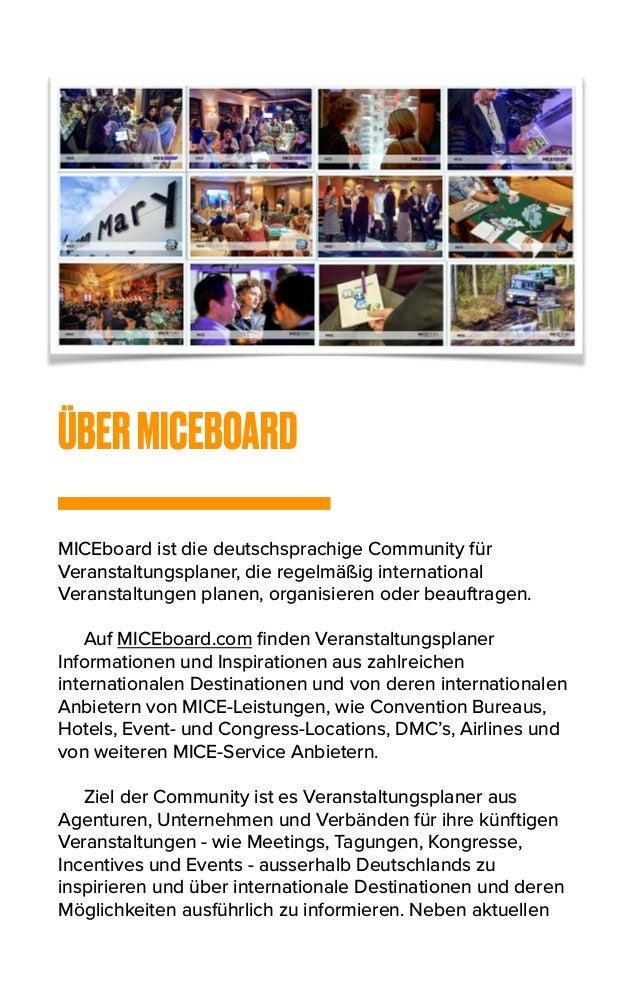 ÜBERMICEBOARD MICEboard ist die deutschsprachige Community für Veranstaltungsplaner, die regelmäßig international Veransta...