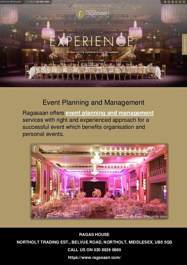 Event Planning and Management Ragasaan offers event planning and management services with right and experienced approach f...