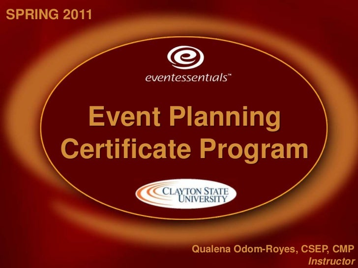 Spring 2011 - Event Planning Certificate Program