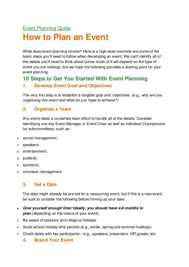 Event planning guide for How to plan a party