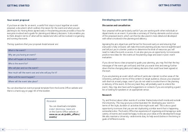 ... Event Planning Guidelines 2008 3; 4.  Event Planning Document Template