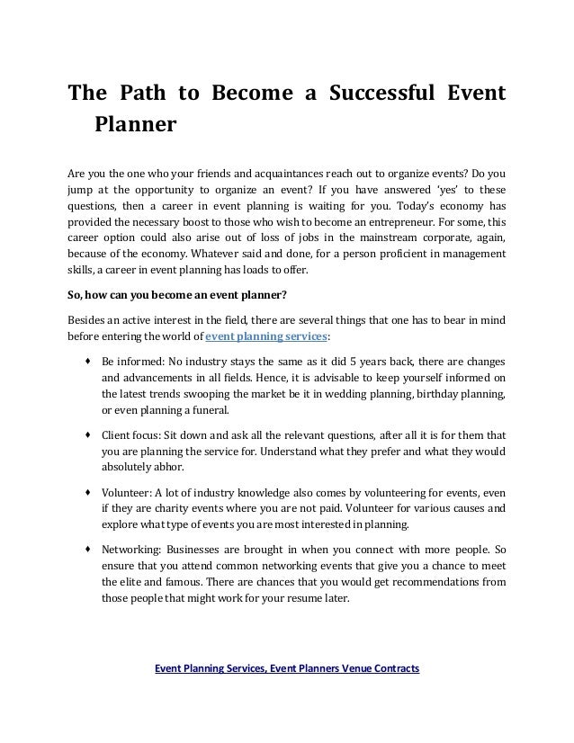 Event planning services event planners venue contracts