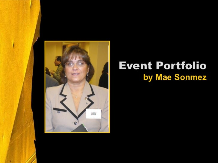Event Portfolio by Mae Sonmez