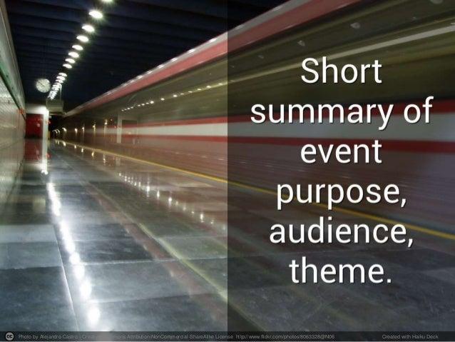 event recap template