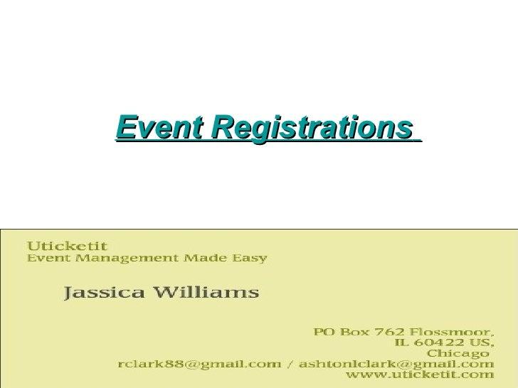 Event Registrations