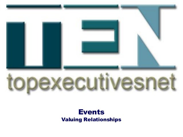Events Valuing Relationships