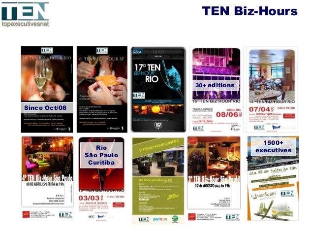 TEN Biz-Hours 30+ editions Since Oct/08 Rio São Paulo Curitiba 1500+ executives