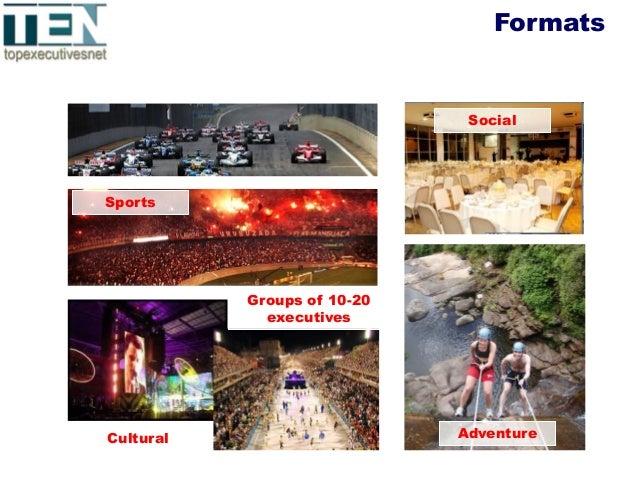 Portfólio TENFormats Groups of 10-20 executives Sports Cultural Social Adventure