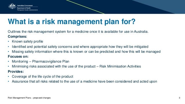 Risk Management Plans - Proposed Changes