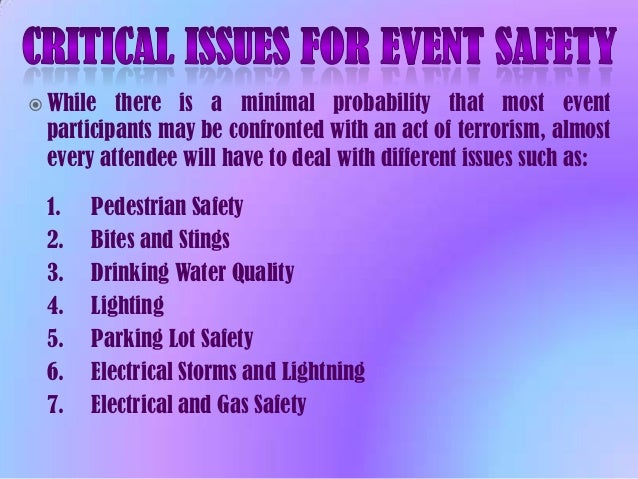 event risk management and safety pdf
