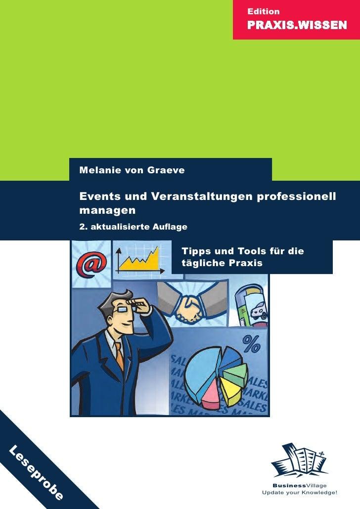 Edition                                            PRAXIS.WISSEN               Melanie von Graeve            Events und Ve...