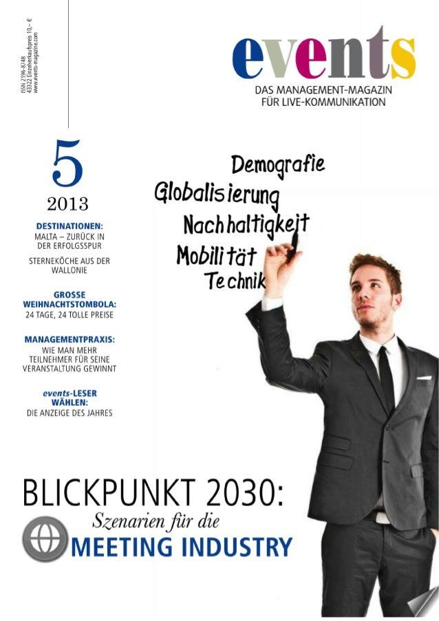 Events - Das Management-Magazin für Live-Kommunikation 05.13