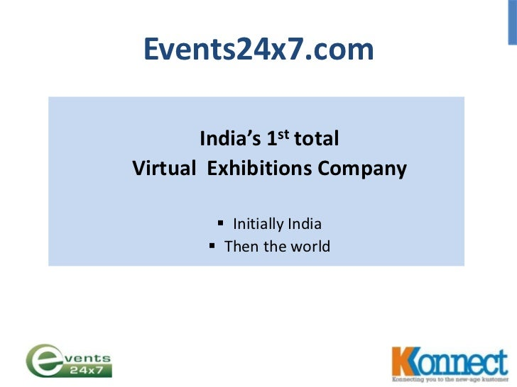 Events24x7.com<br />India's 1st total <br />Virtual  Exhibitions Company<br /><ul><li>Initially India