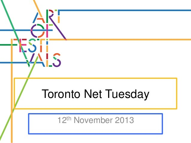 Toronto Net Tuesday 12th November 2013