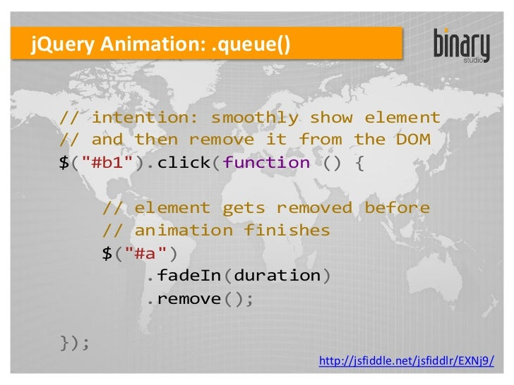Jquery events animation ajax - Jquery remove div ...