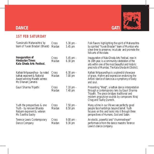 kalaghoda 2014 event schedule