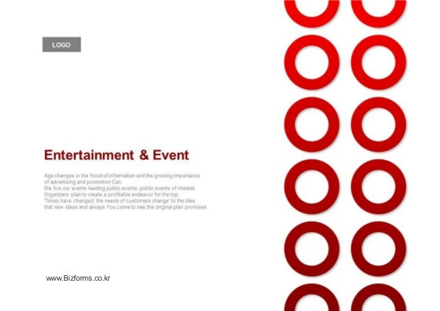 디자인 제안서 Events Entertainment Planning Proposal Ppt