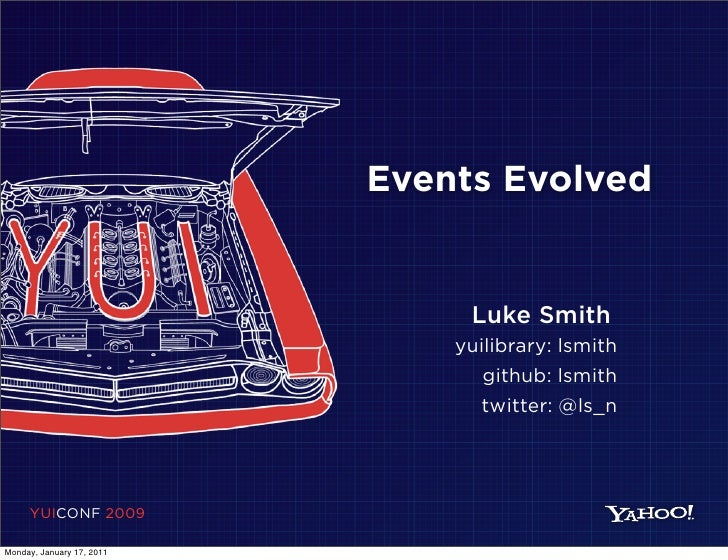 Events Evolved                                Luke Smith                               yuilibrary: lsmith                 ...