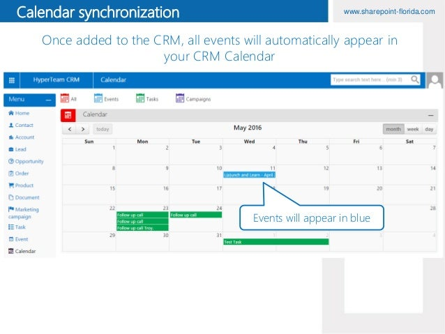 Events functionality in HyperTeam CRM