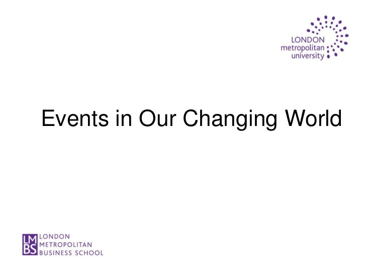 Events in Our Changing World