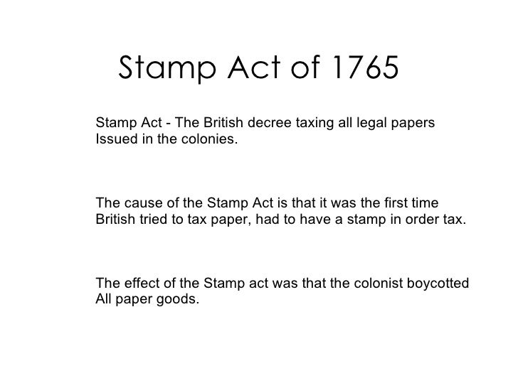 Tea act cause and effect