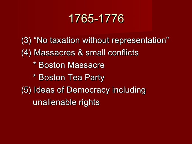 Events Leading To The American Revolution - American revolution facts