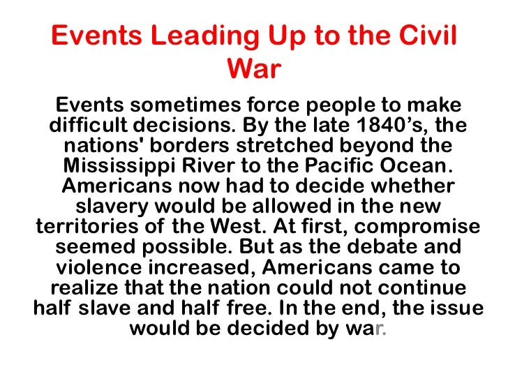 events leading to the cause of essay Causes of world war ii essayswhen most people look at war the first thing that they usually take into consideration is the destruction, anarchy and casualties, when.